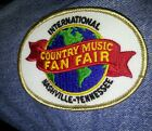 COUNTRY MUSIC FAN FAIR patch/ Badge, first event Nashville,  Tennessee iron on