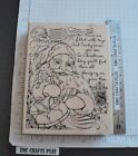 SANTA COLLAGE LARGE RUBBER STAMP by STAMPENDOUS R 213