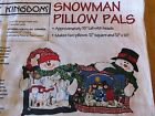 Daisy Kingdom Snowman Pillow Pals Fabric Panel to cut and sew - makes 2 pillows