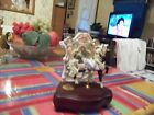 Westland carousel horse, mirrored stand, horse moves on brass pole,music box