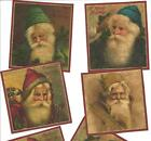 LOT OF~12 Vintage look LABELS~Grungy labels ~Christmas!~Santa!
