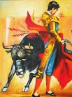Spanish Mexican Bullfighter Bull fight Art Original Canvas Oil Painting PM39