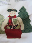DAISY KINGDOM CHRISTMAS~SNOWMAN WITH TREES~SOFT SCULPTURE FABRIC PANEL 1118