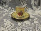 Tea Cup And Saucer Victorian Gold Yellow Demitasse