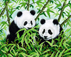 Pandas DIY beadpoint kit beaded embroidery seed beads tapestry crossstitch