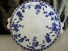 Beautiful Antique Blue and White Plate w/Asian Design - Leaves