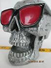 Skull Ashtray with Sunglasses Gothic Grinning Removable Lid Head
