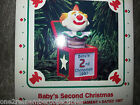 HALLMARK Keepsake 1987 BABYS SECOND CHRISTMAS Ornament JACK IN THE BOX Clown NEW