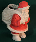 VINTAGE PAPER MACHE CHRISTMAS SANTA CLAUS w/ SACK CANDY CONTAINER