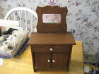 EARLY 1900S PROBABLY HAND MADE DOLL CHEST WITH ORIGINAL MIRROR WHITE KNOBS