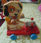 Vintage Fisher Price Merry Mutt 473 Xylophone Wood Pull Toy. First  year 1949