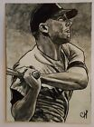 MICKEY MANTLE-YANKEES 1982 Topps K-Mart blank front error cards w sketch