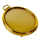 Vintage Eisenberg Small Oval Gold Color Picture Frame Hanging Round Convex Glass