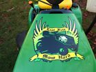 Hood decal for John Deere LIVE FREE MOW HARD riding lawn mower garden tractor