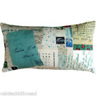 Les Petites Kasko Mail Art Lettre N°3 Cotton Lumbar Small Cushion