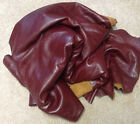 A80 Leather Cow Hide Cowhide Upholstery Craft Fabric Burgundy Red 58 sq ft