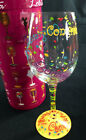 Lolita Love My Wine Glass Congratulations 15 Ounce Hand Painted