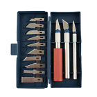 16pc Hobby Razor Knife Set w Blades w Case Exacto Blades fits knife Stencil
