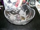 Home Beautiful Crystal Meadow Melody Salad Bowl  Clear Frosted Round  11