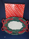 Fitz and Floyd Christmas Garland Serving Plate