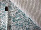 TOMMY BAHAMA 3pc KING Quilt SET Teal Turquoise Blue Ivory FLORAL PAISLEY COASTAL