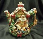 Fitz and Floyd Santa's Magic Workshop Teapot 19/300 (1995) Original Box