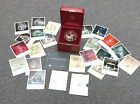 MINT Vintage 1971 Steuben Golden Butterfly W/Orig. Red Leather Box