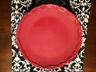 4 Tracy Porter Octavia Hill Red Dinner Plates - Excellent Condition