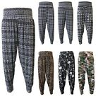 Print Ali Baba Harem Trousers Pants Leggings Baggy Aladdin Boho Hippy Plus Size