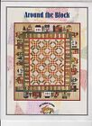 Around the Block Pieced Applique Quilt Wallhanging Pattern Rabbit Factory