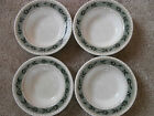 Oneida Hand Painted Oliveto Olive Rimmed Soup Salad Cereal Bowls Set Lot of 4