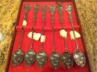 Vintage Set 0f 6 Silver Stirring Spoons Made in Holland 9o