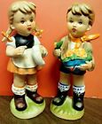 Vintage 1950's Arnart 5th Ave #11553 Boy and Girl Hand Painted Figurines