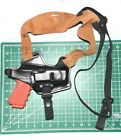 Front Line FL1079 BK RH Leather Shoulder Holster Suede Harness Glock 30 20 21