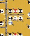 FAMILY OF CHICKADEES Charley Harper Birch Certified Organic Cotton Fabric BTY