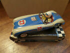 Vintage tin yone  friction powered king cobra race car made in japan