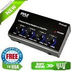 Pyle Pro 4 Channel Stereo Headphone Amplifier Audio Home Black Mini Amp Portable