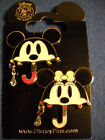 Mickey and Minnie Mouse Umbrellas 2 Pin Set Disney NEW