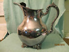 ANTIQUE ORNATE SILVERPLATE WATER PITCHER POOLE OLD ENGLISH SILVER CO EPC 5008