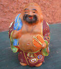 Hand Painted Asian Oriental Ceramic Dirty Old Short Fat Man Figurine