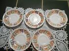 VINTAGE PARAGON BONE CHINA COUNTRY LANE PATTERN Saucers Dessert Small Plates