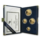 2011 W Proof Gold American Eagle 4 Coin Set Box and Certificate SKU 62578