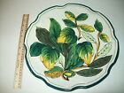 Foglie Hand Painted  Green Yellow Leaves Serving Platter Italy approx 13 1/2