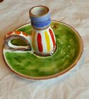 Vintage Desimone Italy Hand Painted Colorful Candleholder