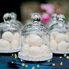 8 Small Mini Glass Bell Jar Candy Cupcakes Box Birthday Party Wedding Favor Gift