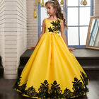 Kids Girl Formal Occasion Bridesmaid Party Prom Event Wedding Flower Dress Gown