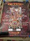 1995 WILLIAMS NO FEAR  PINBALL POSTER W/FLYER
