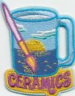 Girl Boy Cub CERAMICS MUG painting Fun Patches Crests Badges SCOUTS GUIDE