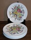 6 JOHNSON BROS WINDSOR WARE GARDEN BOUQUET BREAD AND BUTTER PLATES 6.25