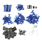 Motorcycle Sportbike Fairing Body Bolts Kit Fastener Clips Screws Blue
